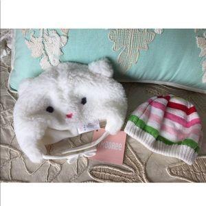 Baby girls hat bundle lot Gymboree kitty NWT
